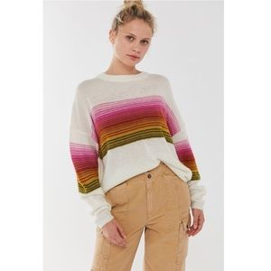 UO Sofia Striped Brushed Knit Sweater